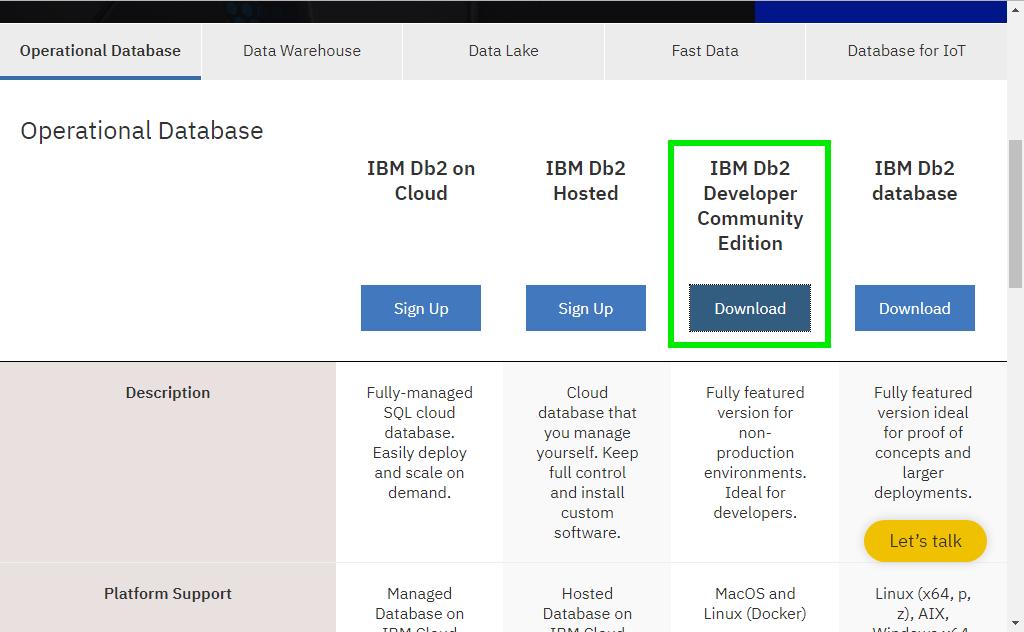 Installazione e configurazione del database IBM DB2 ...